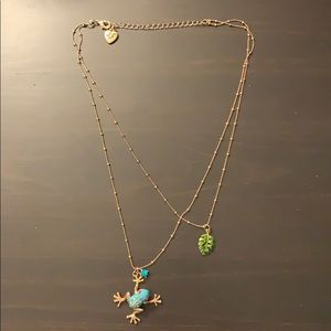 Betsey Johnson Frog Necklace